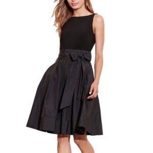 Lauren Ralph Lauren black Sash dress size 12P BNWT